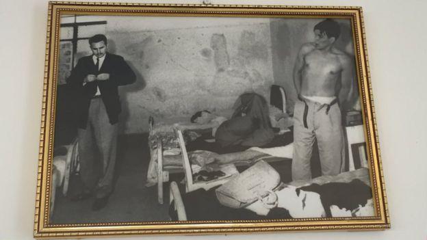 Fidel Castro y Ernesto Guevara en México, antes de que comience la campaña guerrillera en la Sierra Maestra.