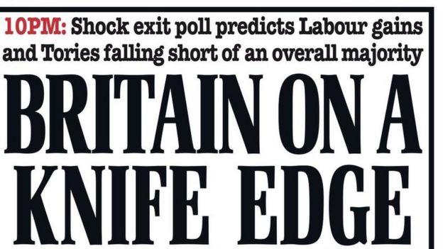 《每日邮报》已经发布最新头版