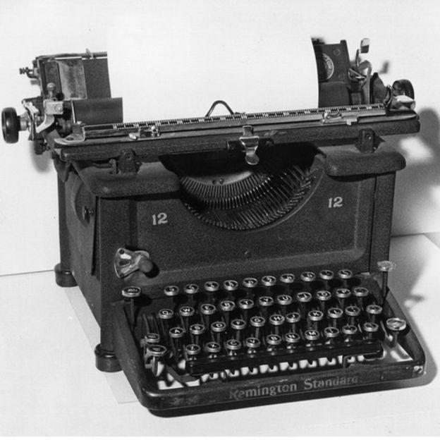 Máquina de escribir Remington.