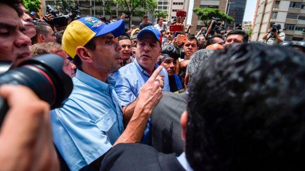 Henrique Capriles y Julio Borges