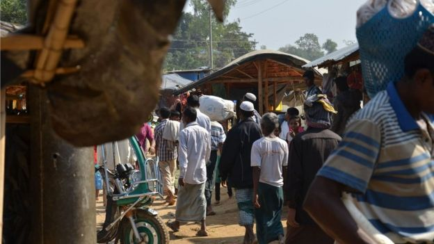 Rohingyas refugee camp in Bangladesh.
