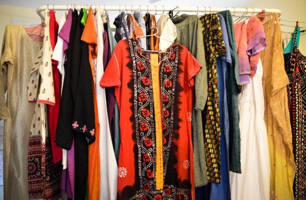 The red batik kurta