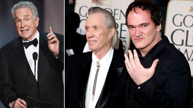 Warren Beatty, David Carradine and Quentin Tarantino