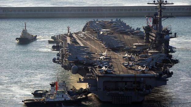 Portaaviones Carl Vinson.