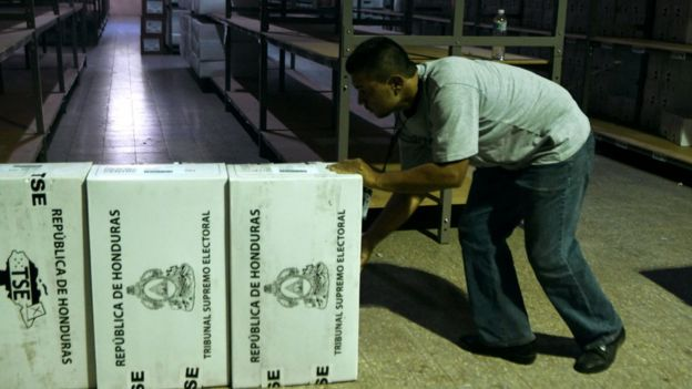 Material electoral en Honduras