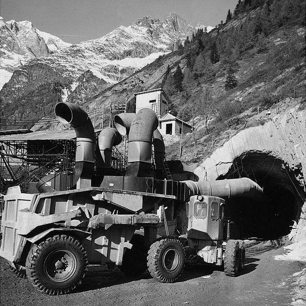Perforadora en Mont Blanc