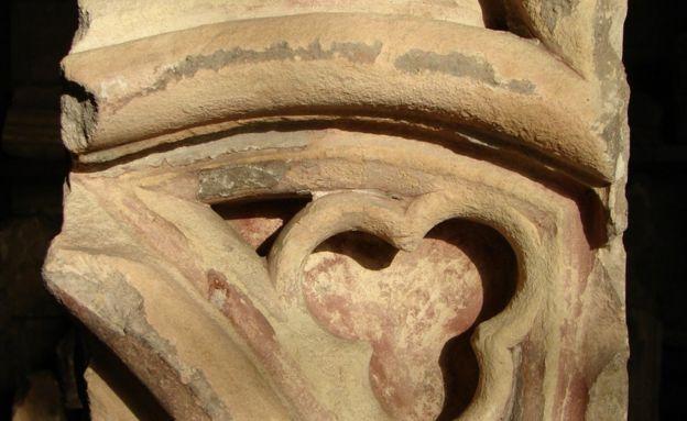 Piedra de la catedral original de San Pablo