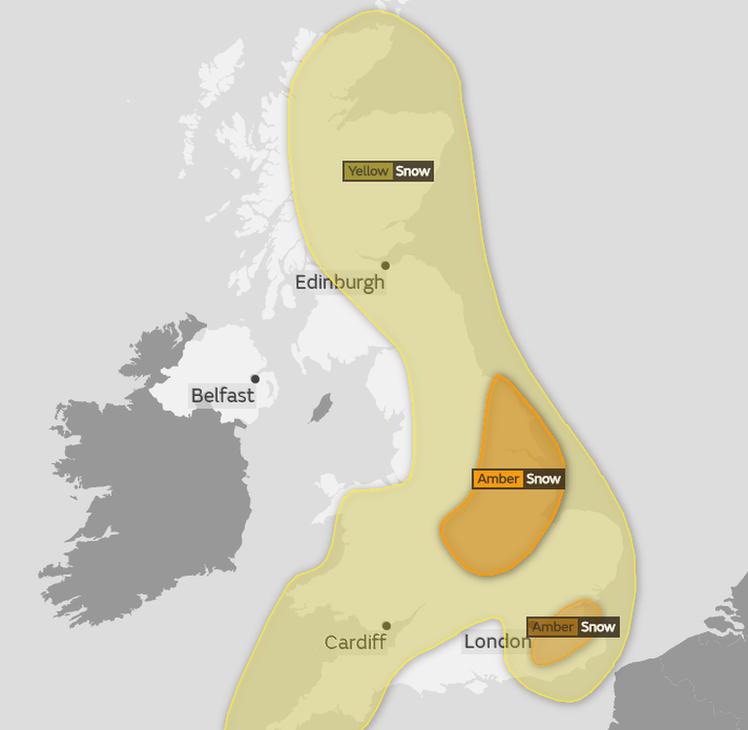 Weather warning map