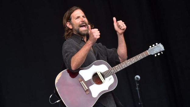 Bradley Cooper on the Pyramid Stage