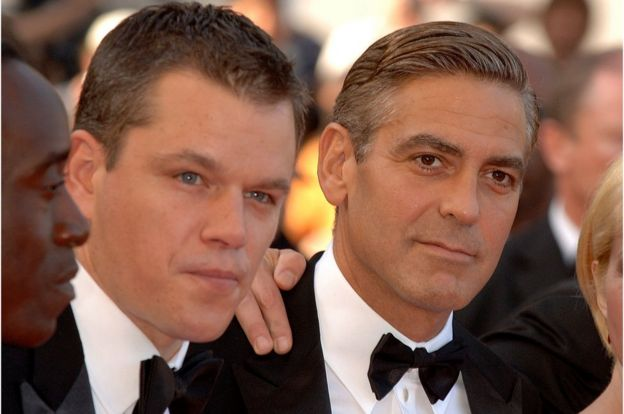 Matt Damon and George Clooney