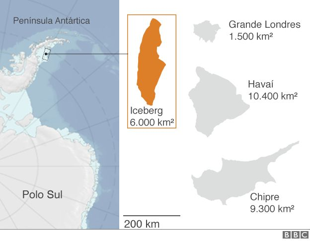 Mapa iceberg