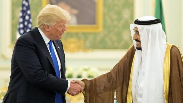 دونالد ترامپ در سفر به عربستان