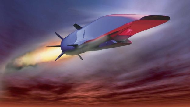 Illustration of the Boeing's X-51 Waverider that features a hypersonic combustion engine designed to overcome some of the difficulties of this type of flight.  (Photo: Courtesy of the United States Air Force).