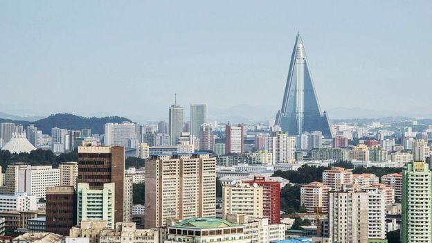 La línea de horizonte de Pyongyang