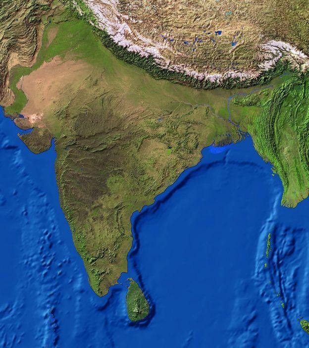 印度卫星地图