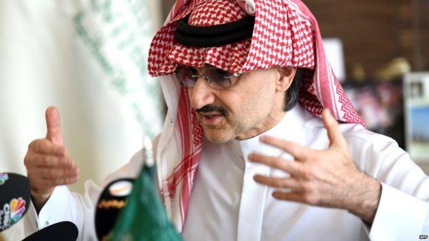 El príncipe Alwaleed bin Talal es uno de los hombres más ricos del mundo.