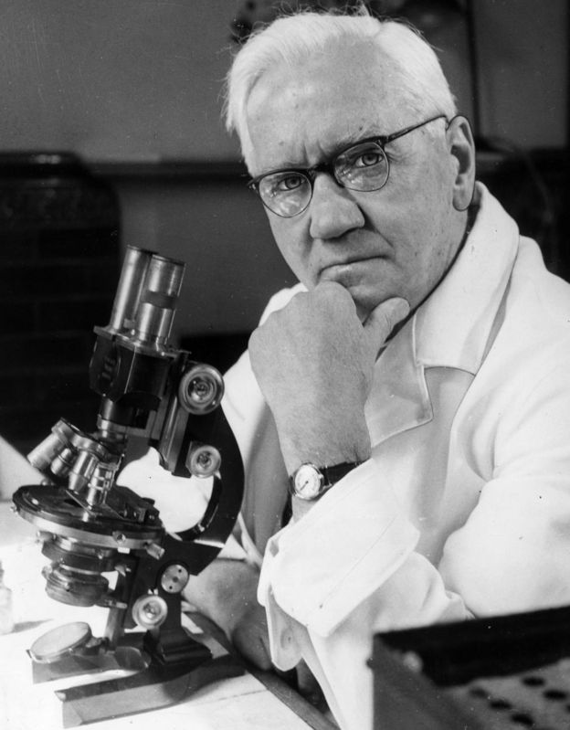 Sir Alexander Fleming, pictured in 1954