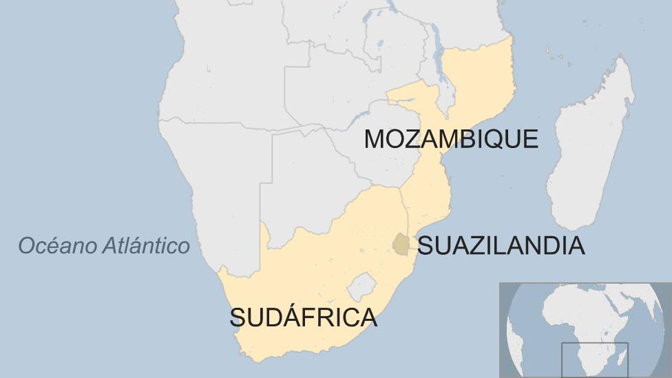Mapa Suazilandia