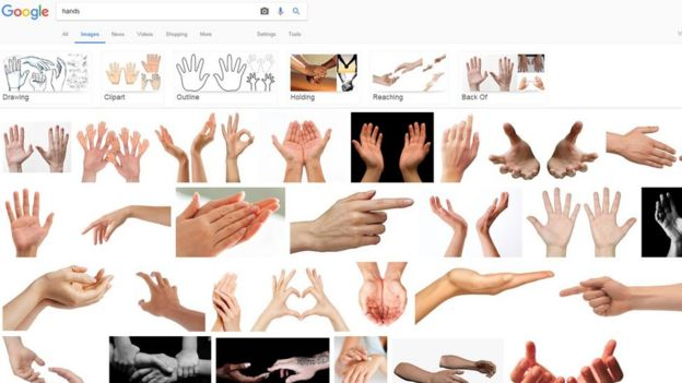 Google image results for the word