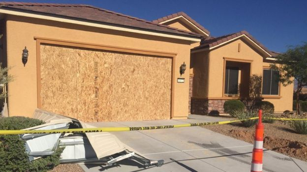 Suspected Shooter Stephen Paddock's Home near Las vegas