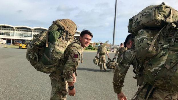 UK troops in Tortola