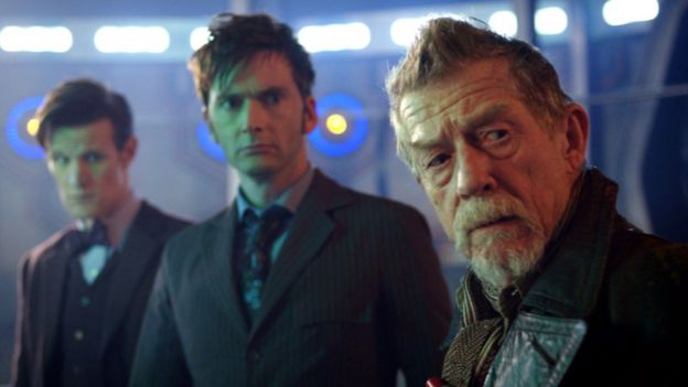 Matt Smith, David Tennant and John Hurt in The Day of the Doctor