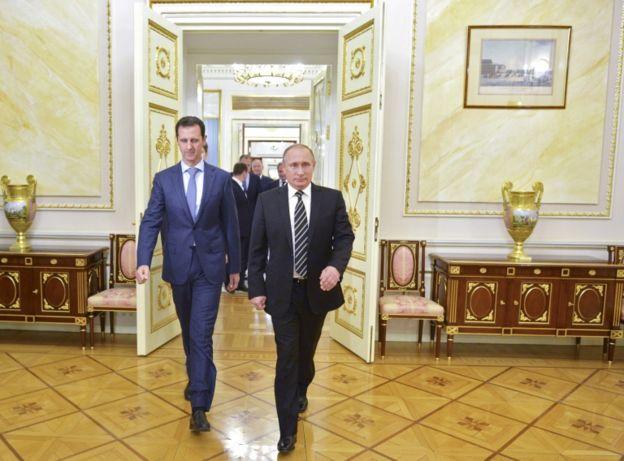 Al Assad y Putin