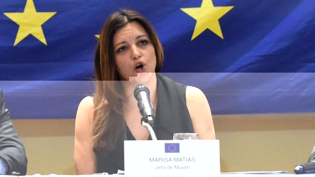 Marisa Matías, jefa de la misión