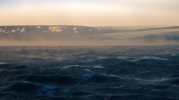 O remoto arquipélago de Novaya Zemlya
