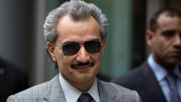 الأمير الملياردير الوليد بن طلال ، كان من ضمن جملة الأمراء المعتقلين