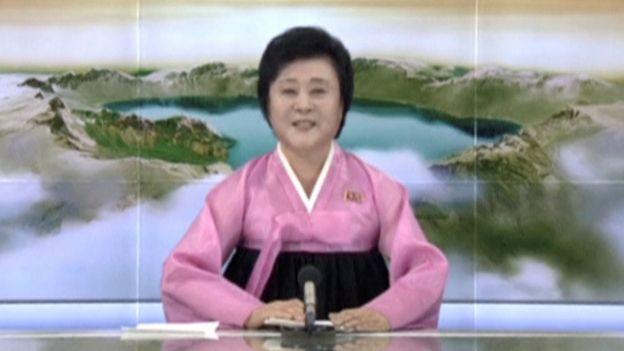 Anunciadora de TV de Corea del Norte