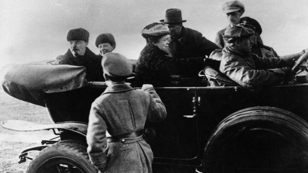 Lenin y Krupskaia