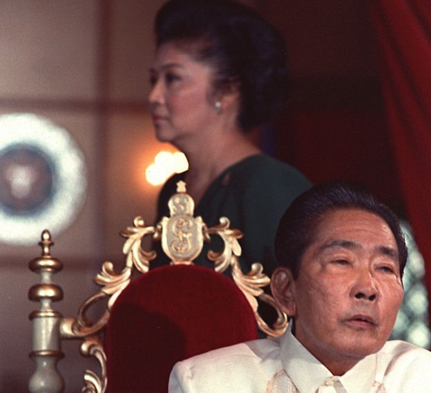 Philippines President Ferdinand Marcos and his wife Imelda