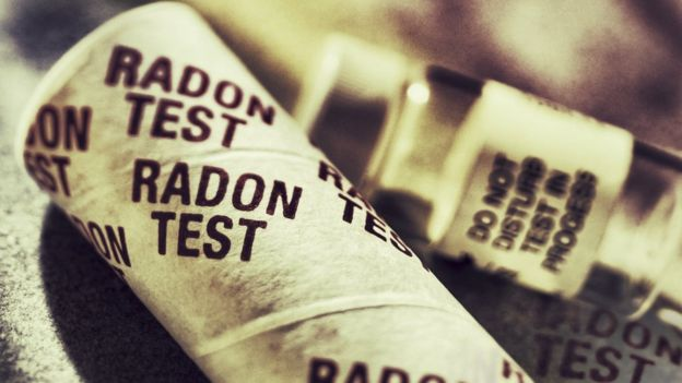 Test de medición de radón