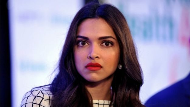 "Indian Bollywood film actrss Deepika Padukone poses during the launch of the ""NDTV Fortis Health4U"" nationwide Campaign in Mumbai on September 12, 2014"