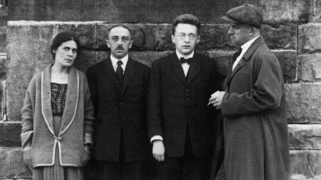 Лиля и Осип Брик, Роман Якобсон и Владимир Маяковский в Германии летом 1923 года