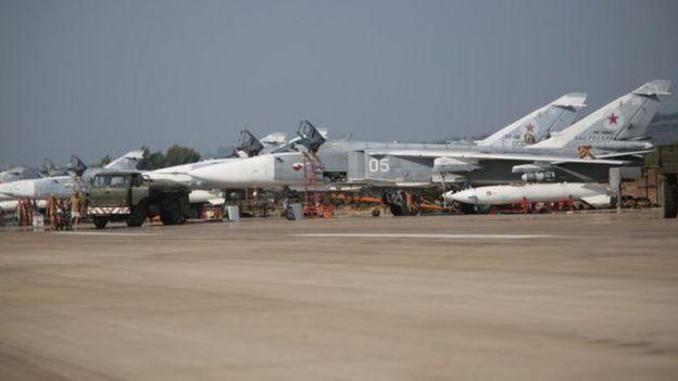 Aviões na Síria