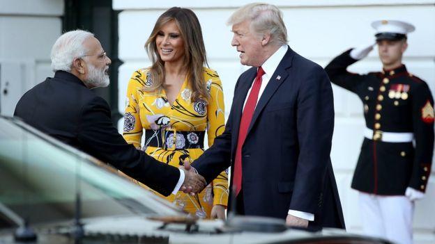 Thủ tướng Ấn Độ Narendra Modi có chuyến thăm Mỹ hồi tháng 6/2017.