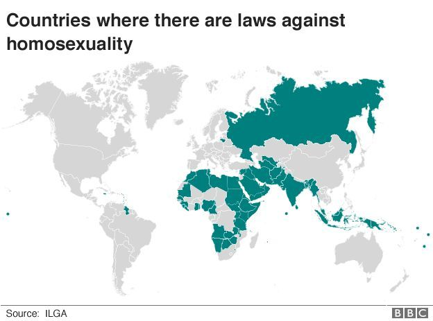 Countries where it is illegal to be gay