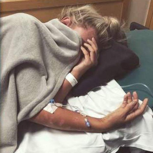 Bryony en el hospital (Foto: Bryony Bateman)