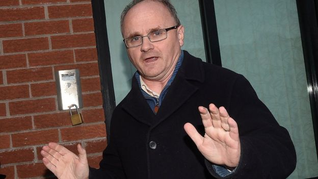 Barry McElduff held up his hands and said sorry