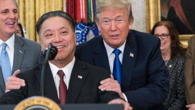 特朗普去年11月曾與博通首席執行官陳福陽見面