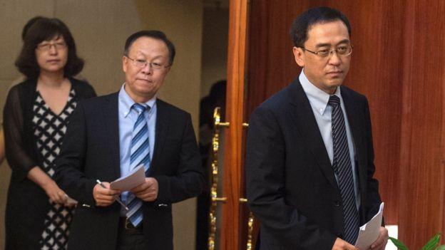 中国医科大学附属第一医院在刘晓波去世后,举行记者会