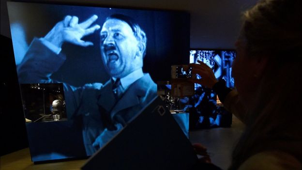 Archive film of Hitler at new museum
