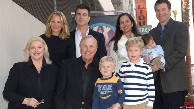 Rogers, with his family at the Hollywood Walk of Fame ceremony in 2005