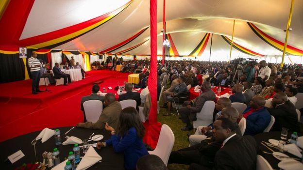 Mkutano wa wanachama wa Jubilee uliofanyika katika Ikulu ya rais