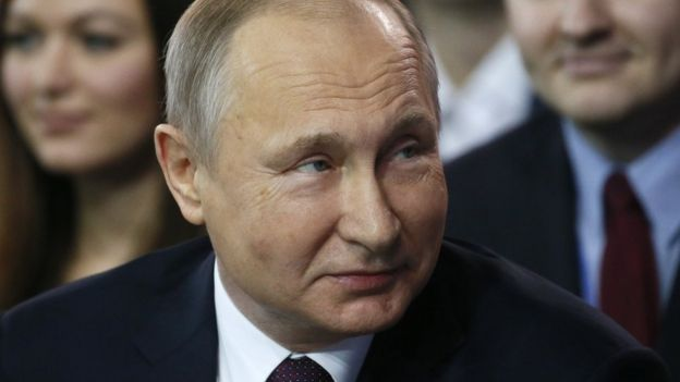 Russian President Vladimir Putin attends a congress of the United Russia party in Moscow