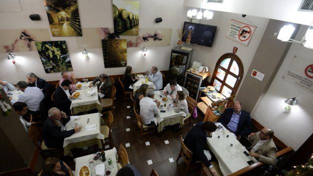 Restaurante en Caracas.