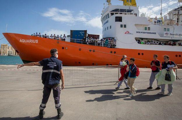 Rescue ship Aquarius