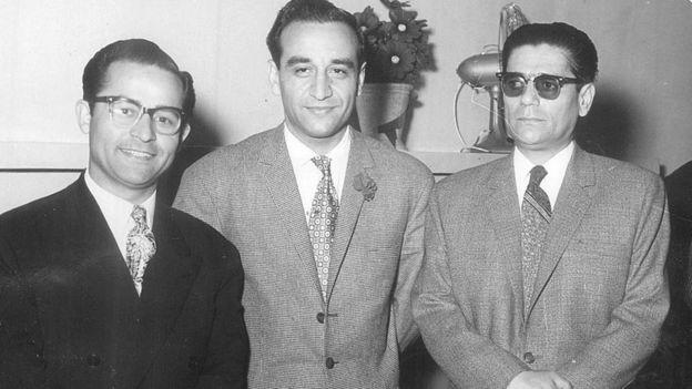 از چپ به راست: حسین دهلوی، فرامرز پایور، حسین تهرانی ۱۳۴۹